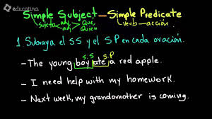 Worksheets On Subjects And Predicates Ejercicios De Inglés Simple Subject And Simple Predicate Youtube