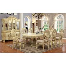 antique white dining room set furniture of america grandberry traditional 9 piece dining table