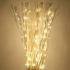 battery operated lighted branches lighted twig branches white free standing willow lighted branches