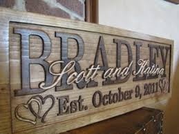 personalized wedding items family name sign last name personalized custom wedding gift carved