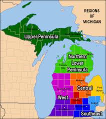 peninsula michigan map lower peninsula of michigan