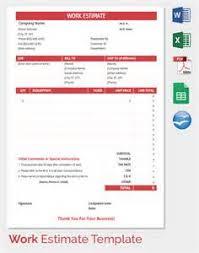 Estimate Sheet Template Estimate Sheet Templates Invoice Forms Estimate Invoice