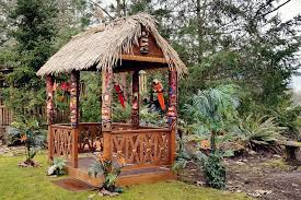 authentic tiki hut for your backyard dixon woodworking inc