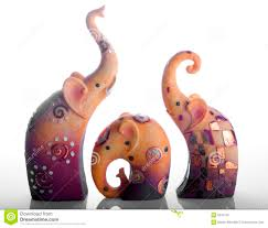 elephant ornaments stock image image of nose figurines 5245725