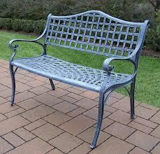 Cast Aluminum Patio Furniture Canada by Amazon Com Oakland Living Elite Cast Aluminum Settee Bench