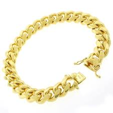 gold plated sterling silver bracelet images Shop sterling silver 12 5mm miami cuban curb link thick solid 925 jpg