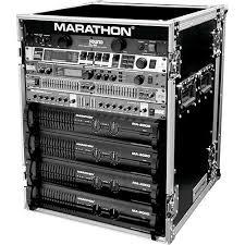 Audio Rack Case Marathon Ma 14uad Flight Road 14u Deluxe Amplifier Rack Ma 14uad