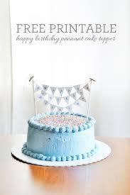 cake topper banner happy birthday banner cake topper printable
