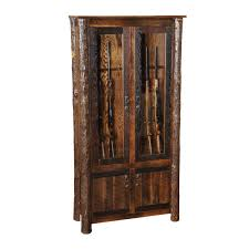 Glass Gun Cabinet Barnwood Gun Cabinets