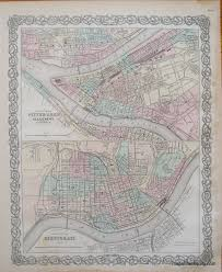 Old Map Of Suffolk County Antique Maps And Charts U2013 Original Vintage Rare Historical