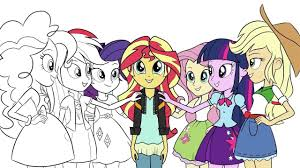 my little pony coloring book equestria girls friendship games mlp