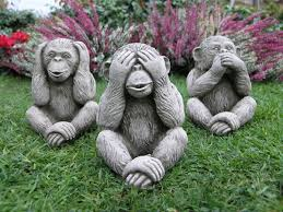 three monkeys garden statue 28 49 garden4less uk shop