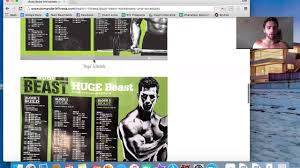 how to follow body beast program either at home or gym youtube