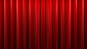Theater Drop Curtain Opening And Closing Red Curtain Front Of Green Screen Theater