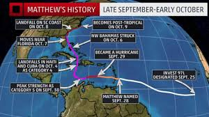 Florida Map East Coast Hurricane Matthew Recap Destruction From The Caribbean To The