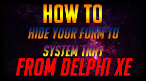 membuat aplikasi android dengan delphi xe8 how to hide delphi xe form to system tray youtube