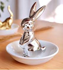 porcelain rabbit ring holder images Socosy chic ceramic bunny jewelry holder ring holder jpg
