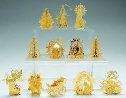 danbury mint 1988 gold ornament collection at