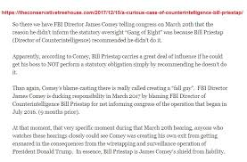 james comey gang of eight trumpsoldier on twitter 11 comey was creating a fall guy https