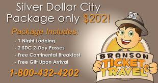 silver dollar city package branson ticket travel