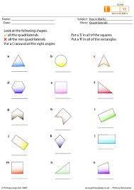 primaryleap co uk quadrilaterals worksheet
