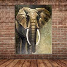 popular animals contemporary art buy cheap animals contemporary modern animal art african elephant oil painting on canvas contemporary large wall poster wall mural