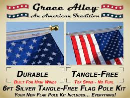Picture Of The Us Flag Amazon Com Flag Pole Kit Outdoor Flag Pole Kit Includes Us Flag