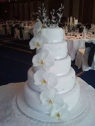 White Orchid 5 Tier Wedding Cake Wedding Cakes Pinterest