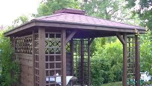 Build A Pergola On A Deck by Gazebo Pergola Construction Diy Installation How To Youtube