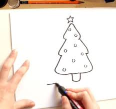 how to draw a christmas tree drawing with kids video by