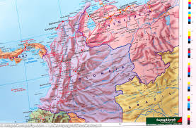 Map Of Central Mexico by Wall Map Of North And Central America Political And Physical