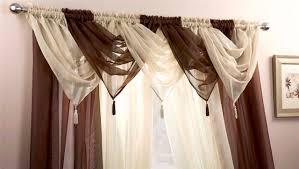 Swag Valances Voile Swag Swags Tassle Decorative Net Curtain Drapes Pelmet