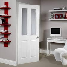 4 Panel Interior Doors White 4 Panel Pre Painted White Woodgrain Unglazed Standard