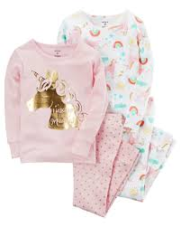 toddler 4 unicorn snug fit cotton pjs from carters