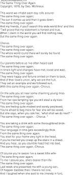 best part lyrics spanish old time song lyrics for 01 the same thing over again