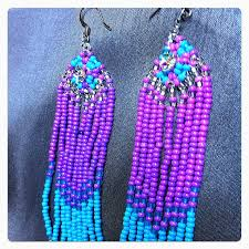 52 best beaded earrings images on pinterest seed beads native