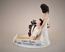 dragging groom cake topper dragging computer customized wedding cake topper