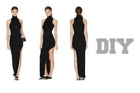 diy nasty gal inspired turtleneck maxi dress with split easy