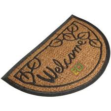 Half Moon Doormat Semi Circle Doormat U0026 Allen Roth Allen Roth Natural Black
