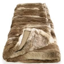 plaid marron pour canapé plaid en véritable fourrure lapin marron nougat couverture en