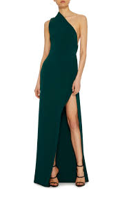 one shoulder side slit gown by brandon maxwell moda operandi