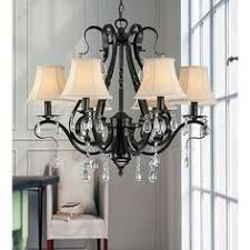 Dining Room Chandeliers With Shades by Gallery Versailles 6 Light Wrought Iron Chandelier By Gallery