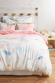 Anthropologie Bed Skirt Atolon Duvet Cover Anthropologie