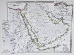 Arabia Map Map Of Ancient Arabia 1865