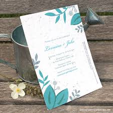 Printable Wedding Invitations New Romantic Floral Designs For Our Seed Paper Printable Wedding