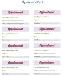 appointment card template templates for microsoft word