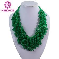 chunky beaded necklace images Superb green stone strands necklace knotted natural beads chunky jpg