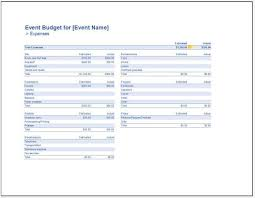 Event Budget Template Excel Event Budget Template Comprehensive Costings And Categories A