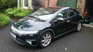 honda 2008 civic ex i vtec s a black car for sale