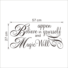 believe home decor aliexpress com buy magic will happen inspiration quote wall